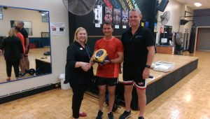 Lea (Manager Club Synergy) James Hindmarsh (Pres RCTW) and Stephen Lascock (First Aid Tamworth)